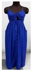 Plain Polycreape Fashion Evening Dresses, Age Group: 17-25