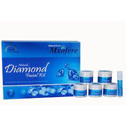 Glowing Skin Care Chemical Mxofere Diamond Facial Kit, For Face, Packaging Size: 280 Gm