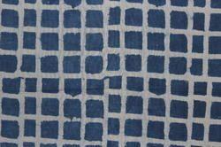 Hand Printed Checks Print Cotton Fabric, Packaging Type: Plastic Bag