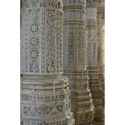 Temple Marble Pillar