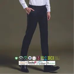 BCI Cotton Mens Slim Fit Trousers