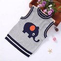 Kids Sleeveless Round Neck Sweater