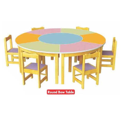 Wood Kids Round Bow Table Chair Set  sc 1 st  IndiaMART & Wood Kids Round Bow Table Chair Set Rs 30000 /set Picano India ...