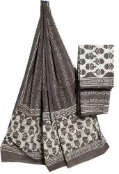 Kashish Print Cotton Dupatta Suit Fabric