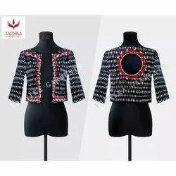 Yadnika Garments Full Sleeve Women's Designer Short Jacket