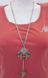 Fashion Costume Jewelry Long Necklace Chain Afghan nk298