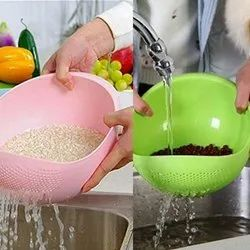 Plastic Bowl Strainer For Rice and Fruit
