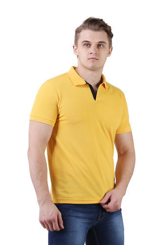 85e090dd S And XXL Gold Polo T-Shirt,yellow Polo Neck T-Shirt, Rs 250 /piece ...