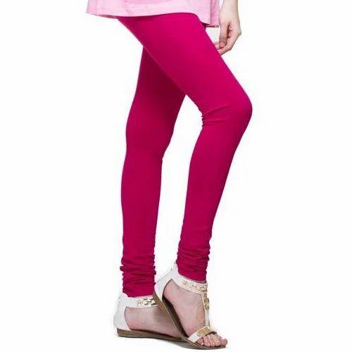 404455555c2ed K. Siya Pink Ladies Churidar Leggings, Size: Xxl, Rs 110 /piece   ID ...