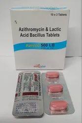 Azithromycin-500 mg Lactic Acid Bacillus Tab