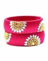 Pink Handmade Silk Thread Bangle