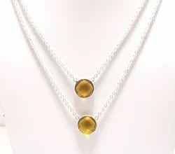 Citrine Quartz Necklace