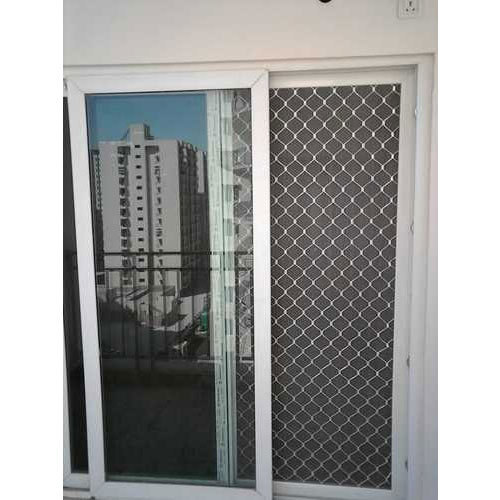 Polished Aluminium Sliding Door