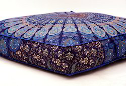 Mandala Cushion Cover Cotton Seating Ottoman Poufs