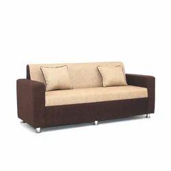 Dark Brown And Cream Colour Three Seater Sofa Set