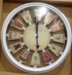 Buttery Operated Designer Wall Clock, Warranty: 1 Year