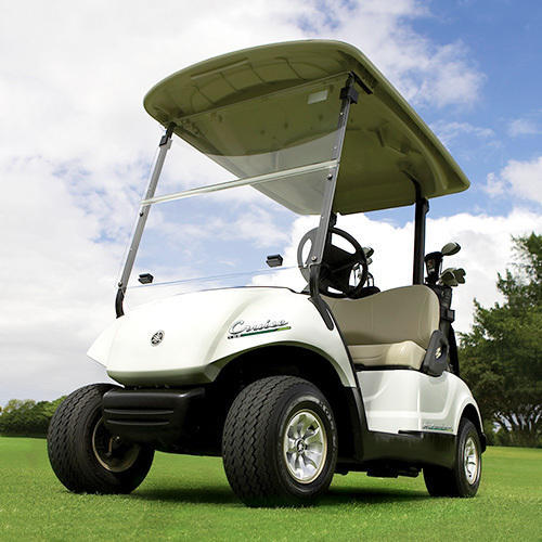 White And Red Electric Golf Buggies Yamaha Cruise
