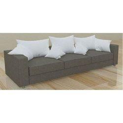Brown Wooden 3 Seater Designer Sofa