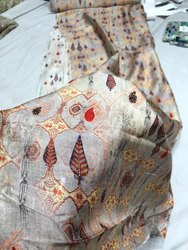Satkaar Multicolor Pure Silk Bamberg Fabric