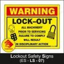 Lockout Signs
