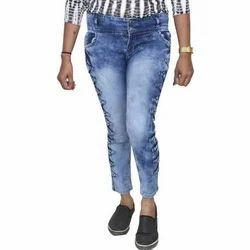 JG Forceman Stretchable Skinny Women Light Blue Jeans