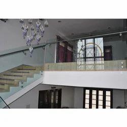 SS Glass Stair Railings