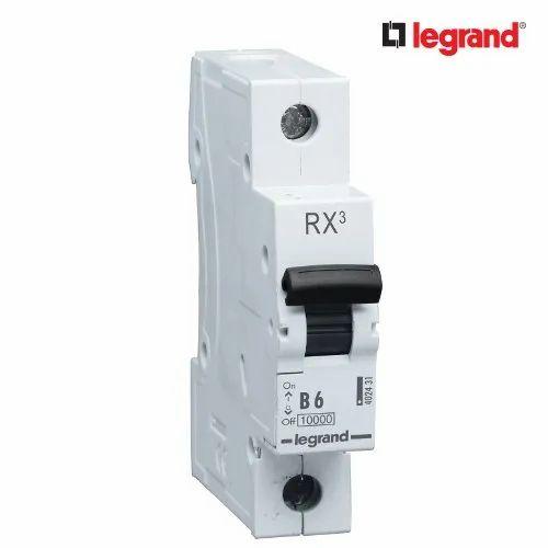Legrand MCB 6 Amp Type B 6A Single Pole 1P Electric Circuit Breaker B6 Lexic RX3