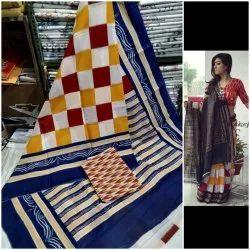 Bagru Hand Block Cotton Saree