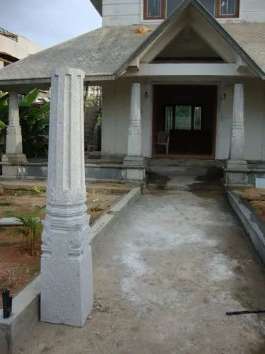 Grey Stone Pillars, Thickness: 1' 0' '  X 1' 0' '