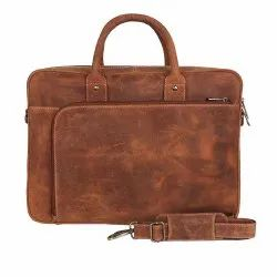 Hunter Leather Laptop Briefcase Bag