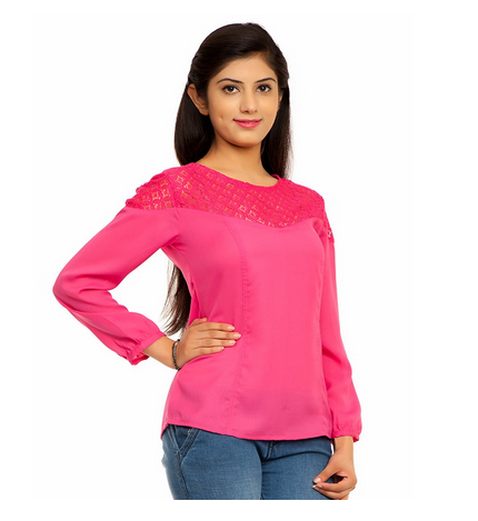 a6e03b3d7f539a Femninora Womens Pink Color Lace Top, Rs 999 /piece, Instra Group ...