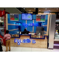 Wooden and Glass Ice-Cream Kiosk, For Mall