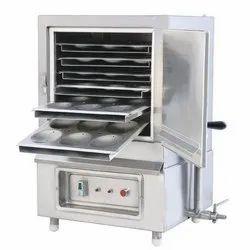 Stainless Steel Commercial Food Warmer Electric Idli Steamer Machine, For Restaurant, 230 V