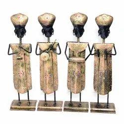 Iron Handicraft Musician Figurine Musician Showpiece Decorative Items Home Decor Antique Showpiece