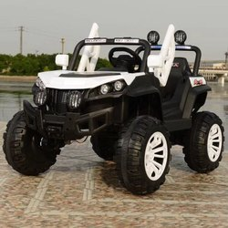 Double Seater Black And White Kids Monster Look Jeep