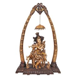 Brass Krishna With Tusk