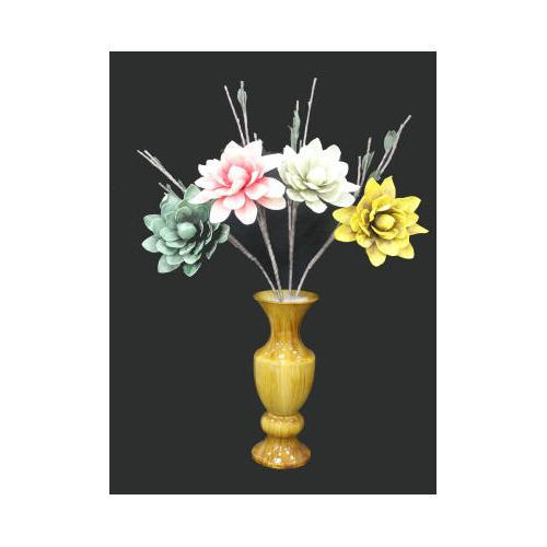 Yellow And White Plastic Flower Port Rs 390 Piece Var Associates