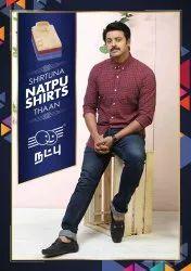 Natpu Full And Half Sleeve shirt, Size: 36 To 42