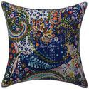Kantha Printed Attractive Cotton Paisley 16X16 Cushion Cover