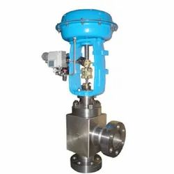 Pneumatic Angle Type High Pressure Regulating Control Valve