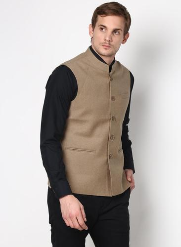 ad15cb064ac6 Brown Linen Silk Nehru Jacket, Size: M And L, Rs 1800 /piece(s) | ID ...