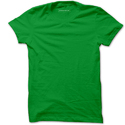 Mens Green Plain T-shirt