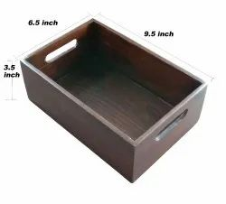 Wooden Box with Handle No.2 Walnut