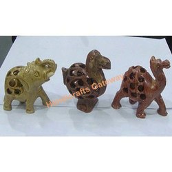 Soapstone Undercut Animal Figures