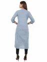 Regular Fit Blue Color Printed Kurta