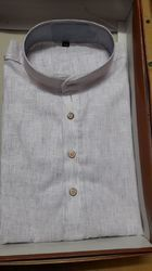 Grey Cotton Fancy Kurta