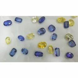 Tikam Gems Blue & Yellow Sapphire Gemstone, Packaging Type: Box