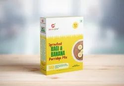 9 Months Sprouted Ragi & Banana Porridge Mix, Packaging Type: Box, Powder