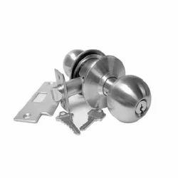 Godrej Stainless Steel Cylindrical Door Lock, Chrome