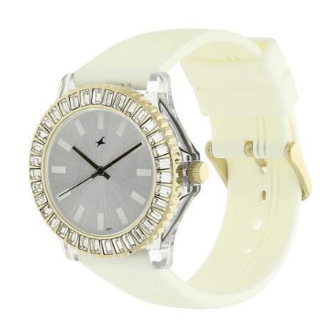 a1aab4320 White Fastrack Analog Watch For Women NG9827PP01CJ